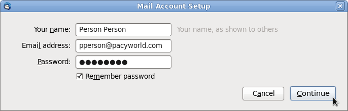 Mail Account Setup 2